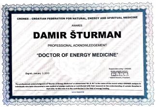 Damir Šturman, dr. Energetske medicine